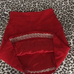 KATE SPADE RED A-line skirt